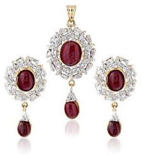 Sheetal Jewellery Shimmering drop Pendant Set