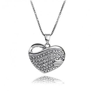 Heart Pendant Necklace by crunchy fashion