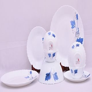 Larah 9 Pcs Dinner Set Fluted Ageria