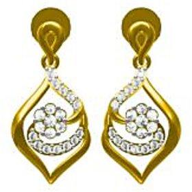 Sakshi Jewels 18K Yellow Gold VVS-FG Diamond Dangling Earring