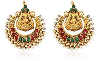 Beautiful Gold Plated Pearl Studded Earring ER-1172