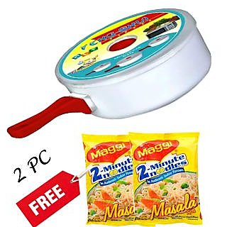 Microwave Maggi Cookware with Free 2 Maggi Noodles
