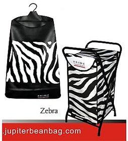 Laundry Bags- Hanger +Stand Combo Offer,Design- Zebra Fab- Nylon Matty