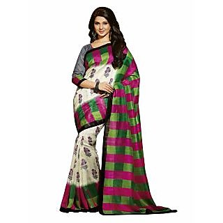 Bhavi Printed Mysore Silk Sari (BHVP12534)