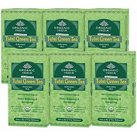 Organic India TULSI GREEN TEA Stress Relieving & Energizing 5 Packets 25 Tea Bag