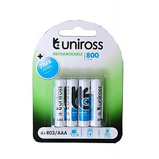 UNIROSS 800 MAH AAA BATTERIES PACK OF 4