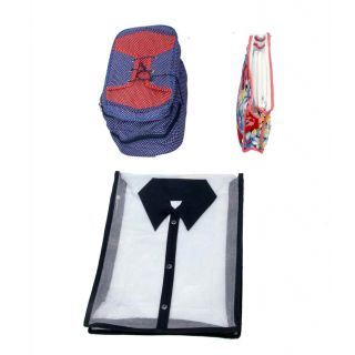 Kuber Industries Shirt Cover, shoe cover & Travelling kit (3 Pcs Combo)