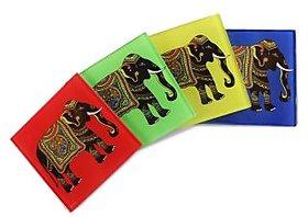 Silhouette of Elephant Coasters