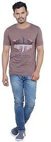 Vacuum Tshirts 100% Superior Pima Cotton Round Neck New York Printed T-Shirt
