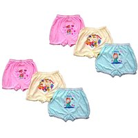 Shopper's Street Kid's Cotton Multicolor Printed Bloomers Set Of 6