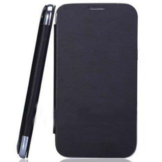 Micromax Canvas Fun A74 Flip Diary Case Cover - BLACK + Screen Guard