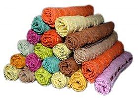 XY Decor multicolour face towel (set of 24)