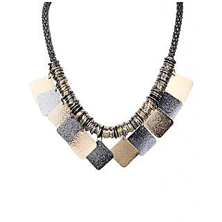 Urthn Graceful Necklace Set in Grey - 1102918
