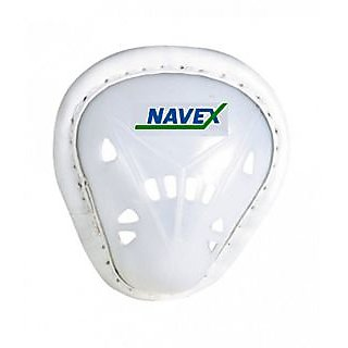 Navex White Pp And Cp Plastic Large Abdominal Cricket Guard (2 Pieces)