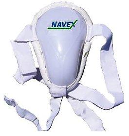 Navex White Large Cotton Double Elastic Abdominal Cricket Guard (2 Pieces)
