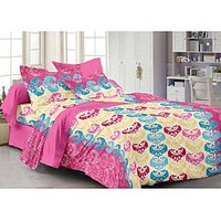 Story @ Home Pink Cotton Candy 1 Double Bedsheet With 2 Pillow Cover-CN1222