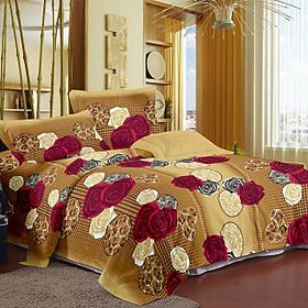 Story @ Home Cream 100 Cotton Candy 1 Double Bedsheet-CN1203