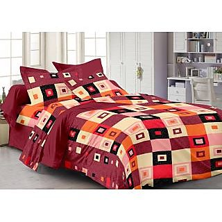 Story @ Home Maroon 100% Cotton Candy 1 Double Bedsheet -CN1235