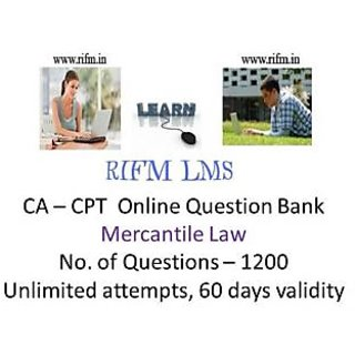 RIFM - CA-CPT- Mercantile Law  online question bank - 1200 questions