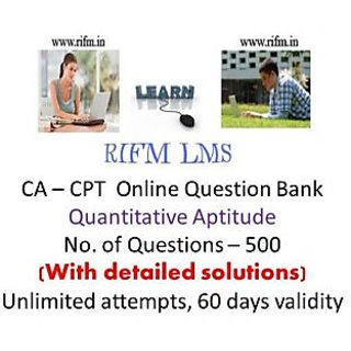 RIFM - CA-CPT-Quantitative Aptitude online question bank - 500 questions