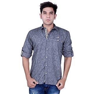 76177d9c80 Kivon Men s Grey Smart Casual Shirt