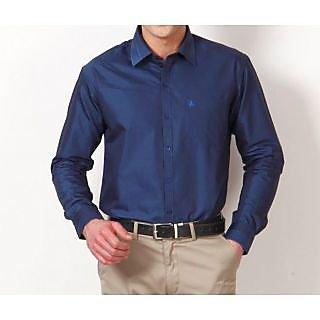 Canary London Navy Blue Plain Formal Shirt
