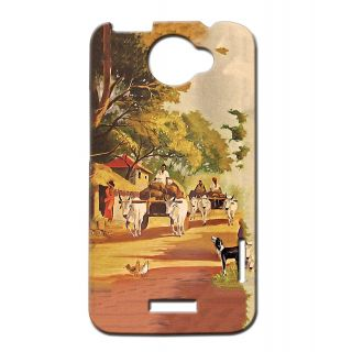 Pickpattern Back Cover For Htc One X VILLAGEROAD1X