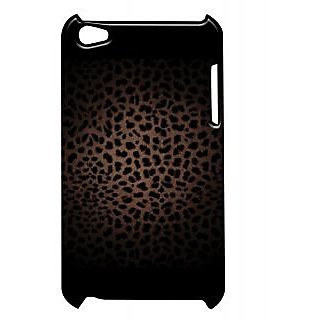 Pickpattern Back Cover For Apple Itouch 4 BLACKCHEETAHIT4