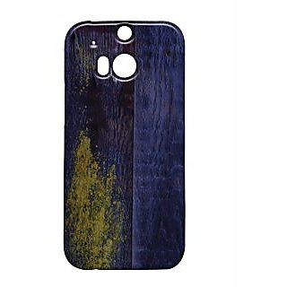 Pickpattern Back Cover For Htc One M/8 BLUEWOOD1M8