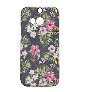 Pickpattern Back Cover For Htc One M/8 PAINTEDGARDEN1M8
