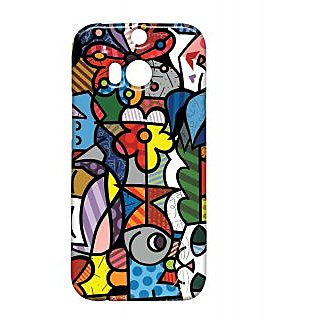Pickpattern Back Cover For Htc One M/8 PETSART1M8