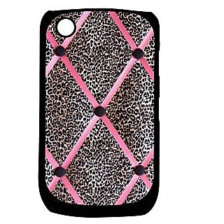 Pickpattern Back Cover For Blackberry Curve 8520 PINKCHEETAH8520