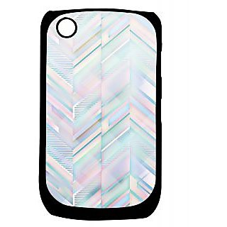 Pickpattern Back Cover For Blackberry Curve 8520 GLASSZIGZAG8520