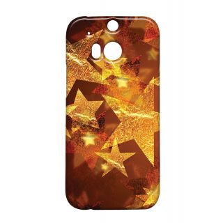 Pickpattern Back Cover For Htc One M/8 STARRYGOLD1M8