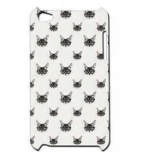 Pickpattern Back Cover For Apple Itouch 4 CATGLASSESIT4