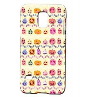 Pickpattern Back Cover For Samsung Galaxy S5 Mini Sm - G800H HALLOWEENPUMPKINSS5M