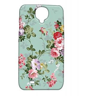 Pickpattern Back Cover For Samsung Galaxy S4 I9500 PAINTEDBLUES4