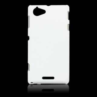 newest 989aa 7ad34 Ultra Thin Rubberized Matte Hard Case Back Cover For Sony Xperia L C2104  (White)