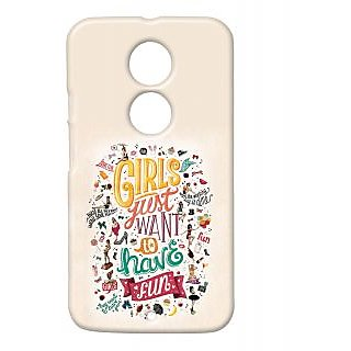 Pickpattern Back Cover For Motorola Moto X 2Nd Gen GIRLSWANTMX2