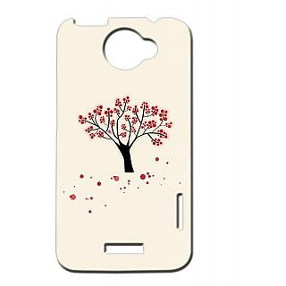 Pickpattern Back Cover For Htc One X REDSHED1X