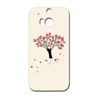 Pickpattern Back Cover For Htc One M/8 REDSHED1M8