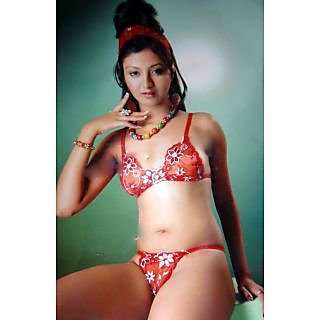 12bb9c49b663a0 Online Transparent Net With Embroidery Bikini Set Prices - Shopclues ...