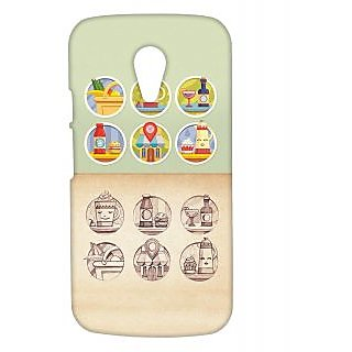 Pickpattern Back Cover For Motorola Moto G 2nd Gen FRENCHRESTAURANTMG2