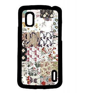 Pickpattern Back Cover For LG Google Nexus 4 VINTAGECOLLAGEN4