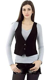 Summer Style Black Vest for Women