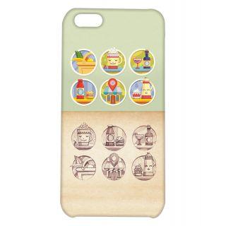 Pickpattern Back Cover For Apple iPhone 5C FRENCHRESTAURANTI5C
