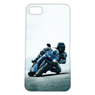 Pickpattern Back Cover For Blackberry Z10 BIKERBLUEZ10