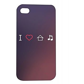 Pickpattern Back Cover For Apple iPhone 4/4S HOUSEMUSICI4