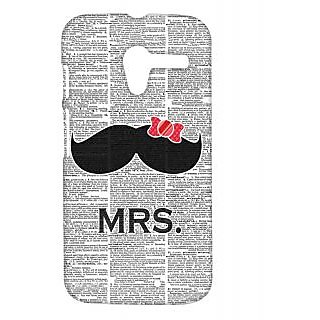Pickpattern Back Cover fo Motorolar Moto X 1st Gen MRSMOUSTACHEMX1