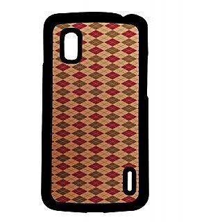 Pickpattern Back Cover For LG Google Nexus 4 VINTAGEDIAMONDSN4